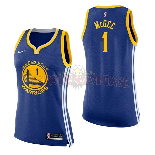 Acquista Personalizzate Maglia NBA Donna Golden State Warriors NO.1 JaVale McGee Blu Icon 2017-18