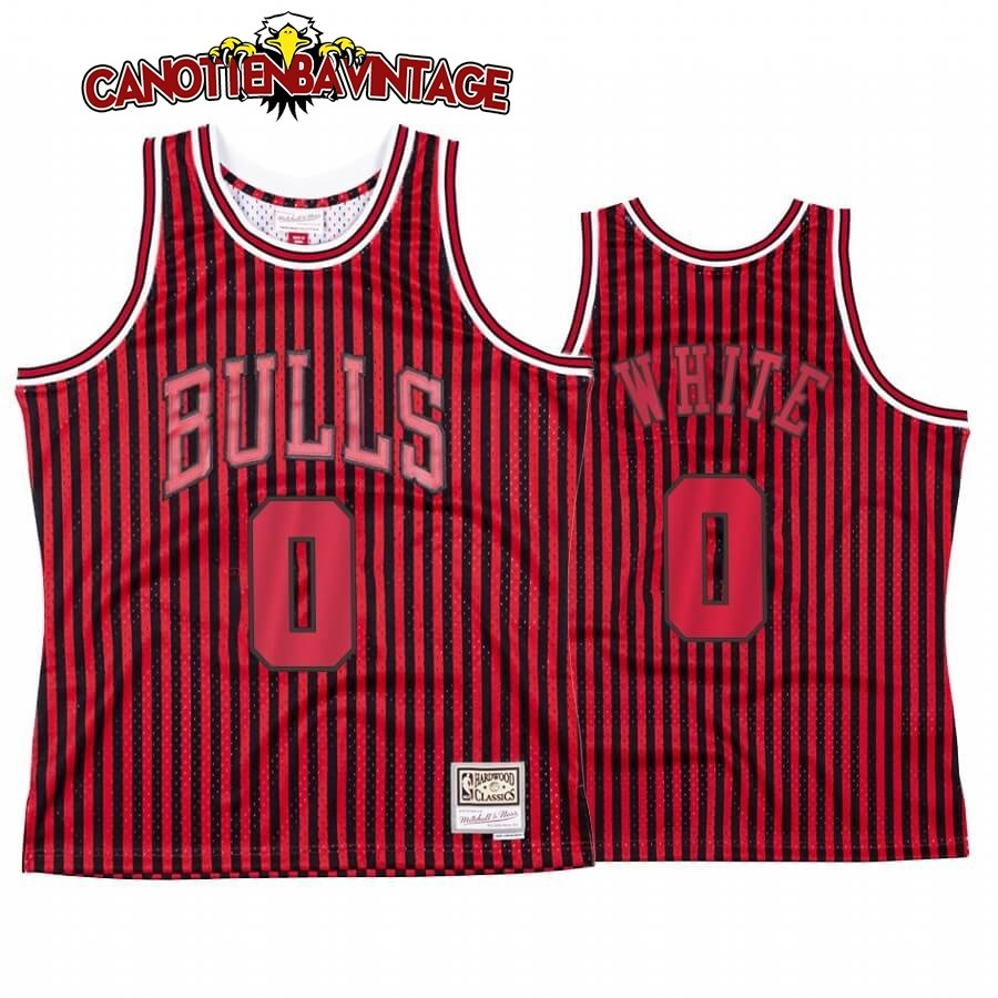 Acquista Personalizzate Maglia NBA Chicago Bulls Independence Day NO.0 Coby White Rosso Hardwood Classics
