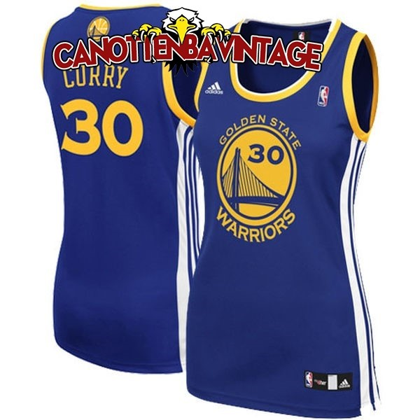 Acquista Personalizzate Maglia NBA Donna Golden State Warriors NO.30 Stephen Curry Blu